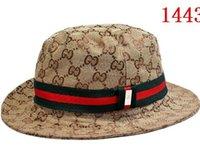şapka güneş yanı toptan satış-2019 Tasarımcı Unisex Yetişkin Geniş yan Kova Şapka moda Balıkçı Kapaklar Balıkçılık Avcılık Açık Havada Güneş Koruyucu Plaj Şapka Kap Ücretsiz nakliye