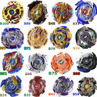 beyblade oyuncakları toptan satış-Tüm Modeller (74 Tasarımlar) Toupie Beyblade Patlama Oyuncakları Arena Bayblade Metal Füzyon Tanrı Fafnir Topaç Bey Bıçak Bıçakları Oyuncak Fırlatıcı Olmadan