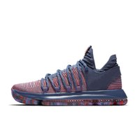 Wholesale orange black kd shoes for sale - Brand New KD EP basketball shoes for Top quality mens shoes s Rainbow Wolf Grey Blue Red Green KD10 basketball sneakers