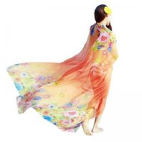 Wholesale chiffon scarves for sale - Women Chiffon Scarves Floral print Scarf Soft Summer Sunscreen Beach Towel Shawl Outdoor beach Magic Scarves GGA1639