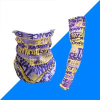 Wholesale waterproof running sets for sale - Group buy Hip hop Bandana Magic Scarf protective sleeves set Sport Sun UV Protection Cooling Face Mask For Running Fishing Cycling LJJA4081