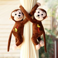 Wholesale lovely tracks resale online - Magnet Curtain Buckle Designs Monkey Plush Toy Curtain Clip Kids Lovely Sleeping Doll Home Cartoon Window Decorations Pieces ePacket