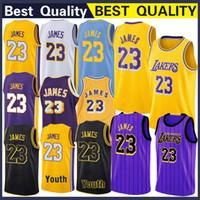 ingrosso abbigliamento sportivo di qualità-Los Angeles 23 James LeBron Jersey Bryant 24 Kobe Sports Outdoors Atletico Abbigliamento outdoor Maglie basket cucite di alta qualità