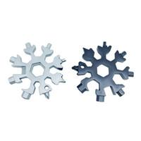edc schraubenschlüssel groihandel-18 IN 1 Snowflake Outdoor-Survival-Tourismus Multi-Funktions-EDC Mini-Werkzeug-Edelstahl Campingausrüstung Karte Schlüsselanhänger Öffner-Schlüssel ZZA816