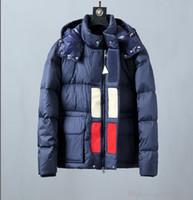 chaquetas de talla grande al por mayor-2019 Nueva moda otoño e invierno para hombre Chaquetas de diseñador de alta calidad de lujo grueso caliente abajo chaqueta más tamaño M-3XL
