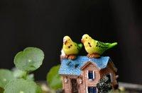 ingrosso mini figurine animali-10 pezzi pappagallo figure miniatura animale figurine mini giardino micro paesaggio acquario serbatoio di pesce statua animale mestiere in resina