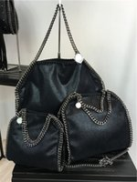 ingrosso grandi borse donna-stili di moda W37cm * H36 cm * D8cm più colore Pieghe da donna over 3 Catena big size Borse a tracolla Tote di lusso stella mccartney