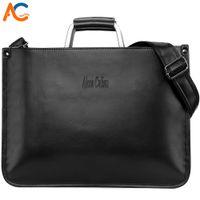 Wholesale metal handles for handbags for sale - Group buy Alena Culian Simple Design Mens Leather Laptop Handbag With Metal Handle Man Business Briefcase Bag Vintage Shoulder Bag For Men
