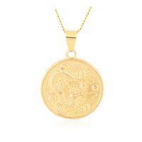 mascote jóias venda por atacado-2019 sorte amuleto clássico animal jóias dragão chama fina corrente cor de ouro colar de pingente mascote ornamentos