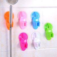 duche de plástico venda por atacado-Poderoso Sucção Do Assento Do Chuveiro Assento Do Banheiro Chuck Titular Chuveiro Forte Otário De Plástico Poderoso Base De Sucção Do Chuveiro