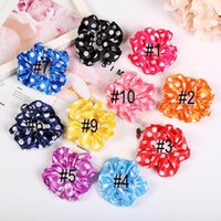 Wholesale animal rubber ring for sale - Group buy 10 color Women Girls Satin Polka Dots Scrunchies Elastic Ring Hair Ties Accessories Ponytail Holder Hairbands Rubber Band Scrunchies