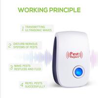 elektronik ultrasonik fare sivrisinek toptan satış-Elektronik Ultrasonik Haşere Kontrol Ekipmanları Kovucular için Sivrisinek Kovucu Yatak Hatalar Fareler Sinekler Hamamböceği Karıncalar Örümcek Diğer Insec Yeni A5907