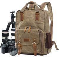 sacos de batik venda por atacado-/ Vídeo Bags Batik Canvas Digital SLR Photo Backpack Camera Durable fotógrafo acolchoado Bolsa para lente da câmera flash tripé Charger 15 '' Laptop