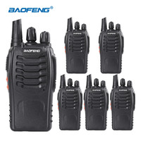 radio walkie talkie headsets groihandel-(6 stücke) Baofeng 888s Walkie Talkie mit Headset Langstreckenfunkgerät Wiederaufladbare Amateurfunk Communicator HF Transceiver