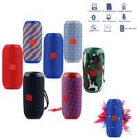 Wholesale Portable Bluetooth Speaker w Wireless Bass Waterproof Speaker Support AUX TF USB Subwoofer Loudspeaker TG117 Boombox