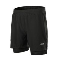 мужские шорты оптовых-Quick Dry Outdoor Sports Shorts Elastic Running Sport Shorts Men's Fitness Training Run Jogging With Zipper Pocket