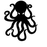 art mural noir vert achat en gros de-Octopus Stickers Muraux Drôle Bateau Voiture Fenêtre De Tampon En Vinyle Autocollant Art Décor De Mode Personnalité