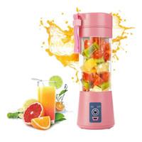meyve suyu makineleri toptan satış-2 Bıçakları Taşınabilir Sıkacağı Suyu Smoothie Smothie Maker USB Şarj Blender Extractor Makinesi Ev Meyve Sebze Mutfak Kesim Araçları