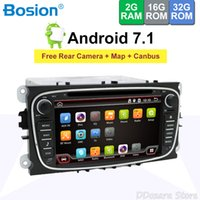 Wholesale car dvd usb sd resale online - Bosion Din Android Car dvd gps player stereo radio for Ford Mondeo Focus built in Wifi Bluetooth USB SD