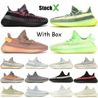Wholesale clay shoes for sale - Group buy New Designer Shoes Yecheil Yeezreel Reflective Cloud White Citrin Kanye West Designer Shoes Black Static Clay Glow Zebra Men Women Sneakers