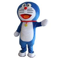 fantasia de cabeça grande venda por atacado-newDoraemon Mascot Costume Robocat com Big Head Mascot Costume Doraemon Fancy Dress Tema Mascotte Carnaval Mascotes