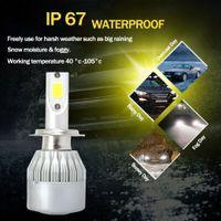 h7 cree led kit toptan satış-Yeni CREE H7 4-Yüzler LED Far Seti 100W 20000LM Hi-Lo Işın Ampul 3000K Araç XY19