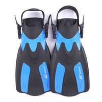 плавники для дайвинга оптовых-WHALE Adult Swimming Fins Short Scuba Snorkeling Shoes Foot Flipper Diving Flippers Diving Fins FN-200 Swim with Heel