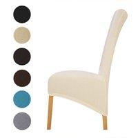 cadeiras altas para trás venda por atacado-Tampa da cadeira impressa estiramento rei alto de volta Slipcovers para hotel Sala de jantar sala de estar decoração de casa