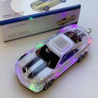 ingrosso giocatore di boombox-Bumblebee LED Car Speaker Bluetooth senza fili Soundbox Stereo Hi-Fi Altoparlante portatile Boombox USB TF Lettore musicale MP3 Radio FM