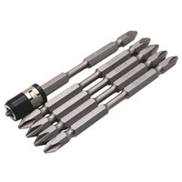 Wholesale screwdriver magnetizer for sale - Group buy 5Pcs S2 Screwdriver Bits Set Mm Phillips Strong Magnet Driver Steel Double Head Hex Shank With Magnetizer Ring