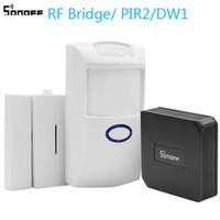 комплект для сигнализации дверной коробки оптовых-Sonoff RF Bridge/PIR 2 Sensor/ DW1 Door & Window Alarm Sensor Wifi Wireless Signal Converter for Smart Home Security Kits