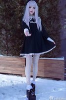 Wholesale lolita dress floor length for sale - Group buy Japanese Harajuku Black And Beige Gothic Lolita Girls Nun Sister Anime Cosplay Party Dress Q190521