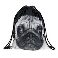 Wholesale computer dogs for sale - Group buy Full Print Men s Women s Kids Bag Teenage Drawstring Bag Shoulder School Backpack Rucksack Handbag Travel Gym dogs
