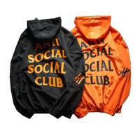 erkekler için asian ceketler toptan satış-Tasarımcı Erkekler Rahat Ceket Kaban Güneş Koruyucu Erkek Giyim Ceketler Mektubu Baskılı Yaka Kapşonlu Siyah Rüzgarlık Streetwear Tops Asya 2XL