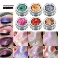 яркие пигментные тени для век оптовых-High pigment 14 Color Single Glitter Eyeshadow Highlight Cream Duochrome Liquid Eye  Palette Eyeshadow Maquillage