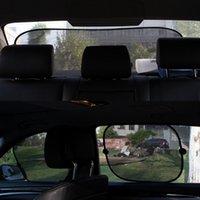 bloques de vidrio rojo al por mayor-5 conjuntos ventana de coche red lateral Sombrillas posterior auto de cristal hilado sombra super bloque de aislamiento anti caliente sol del visera del protector película de la cubierta