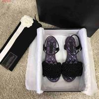 ingrosso pattini pattino trasporto libero piano della caviglia-2019 I nuovi sandali scarpe da donna stile classico fondo decorazione perla sono dotati di scatola spedizione gratuita