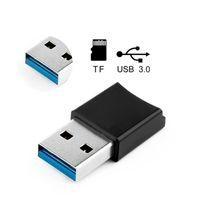 mini lector de tarjetas de memoria al por mayor-Lector de tarjetas USB 3.0 para tarjeta Micro SD Tarjeta de memoria TF Mini portátil USB3.0 OTG para tabletas PC Ordenador portátil