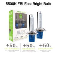 55w h1 h7 caché les ampoules achat en gros de-HCDLT 2PCS super lumineux 12V 5500K H1 H7 H11 9005 HB3 9006 D2H HID ampoule xénon pour voiture phare 35W 55W xénon kit ballast