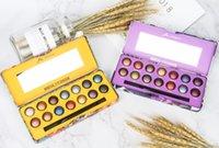gebackene lidschatten make-up großhandel-Nagelneues Make-up MK Cosmetics 14 Farben Glitter Lidschatten-Palette Gebackener metallischer Lidschatten Rauchiger Akt Mit Pinsel