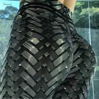 leggings estampados al por mayor-Entrenamiento caliente nuevo Ventas Irenweave polainas Impreso corbata aptitud de las mujeres de envío Scrunch botín Weaving polainas gota