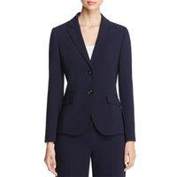 modelos de roupas femininas venda por atacado-Formal Uniforme Escritório Mulheres Uniformes Ternos de Trabalho de Negócios 2 Peça Dois Botões Ternos de Calças Femininas