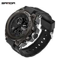 g reloj de pulsera de choque al por mayor-2019 Top Brand Luxury Men Military Relojes G Style Sports Men Clock Man 3ATM Shock Resist Reloj de pulsera Negro relogio masculino J190614