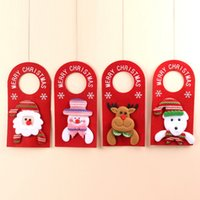 Wholesale 4styles Christmas Tree Door hanger Hanging Pendant Ornament Christmas Decor For Home Hotel Door Xmas Gift Santa Decoration props FFA3138