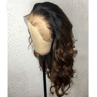 Wholesale full lace wig ombre human hair for sale - Group buy PAFF b Ombre Full Lace Human Hair Wig Bleached Knots Lace Front Human Hair Wigs For Women Virgin Full Ends