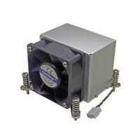 disipador de calor de enfriamiento de cobre al por mayor-Refrigerador de la CPU del servidor 2U Base de cobre + ventilador de enfriamiento del disipador de aletas de aluminio para Intel 1150 1151 1155 1156 i3 i5 i7 Enfriamiento activo