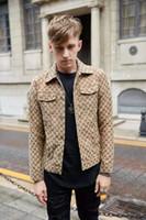 ingrosso giacche jacquard-19FW lussuosa Italia Brand Design Cowboy Giacche Felpe Uomo Donna Abbigliamento maglione di modo jacquard Streetwear esterna del cappotto hoodies