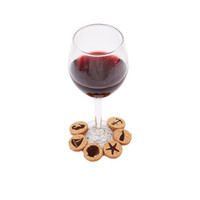 Wholesale wired marker resale online - Cork Glass Charms DIY Goblet Wine Glass Rings with Wire Hoop Drink Markers for Parties Holidays QW9992