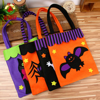 Wholesale breast milk storage bottles resale online - Halloween Bag Pumpkin masquerade party Non woven cloth shopping bag skull print Ghost Storage bag kids Candy gift handbag LJJA2903