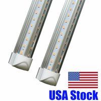 Wholesale fluorescent lights covers resale online - 45W Cooler Door FT T8 Led Tube Light m Integrated Double Rows SMD Led Fluorescent Tubes Light AC V Transparent Cover